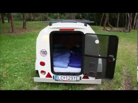 mini caravane the splash couchage 2 places teardrop trailer youtube. Black Bedroom Furniture Sets. Home Design Ideas