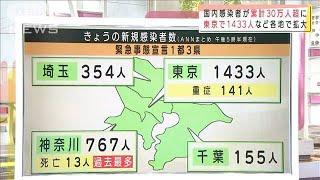 国内感染者が累計30万人超 東京1433人 各地で拡大(2021年1月13日) - YouTube