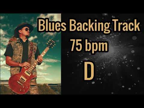 Blues Backing track 75 bpm Key of D