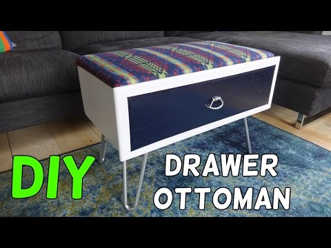 Turn a Drawer Into an Storage Ottoman!
