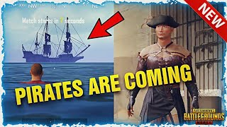 PUBG Mobile New Upcoming Updates | New Pirates Ship In PUBG Mobile