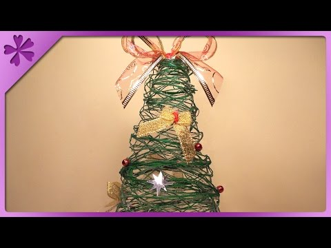 DIY Twine Christmas tree (ENG Subtitles) - Speed up #35
