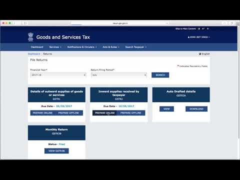 GSTR 2 Return,  Prepare Online & Reconciliation with GSTR 2 A