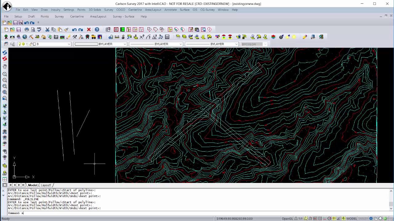 Learning CAD Basics in Carlson 2017
