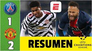 PSG 1-2 Manchester United. Neymar y Mbappé no pudieron. Keylor Navas se lució | Champions League