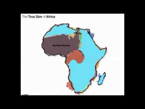 Révélations sur la véritable taille de l'Afrique