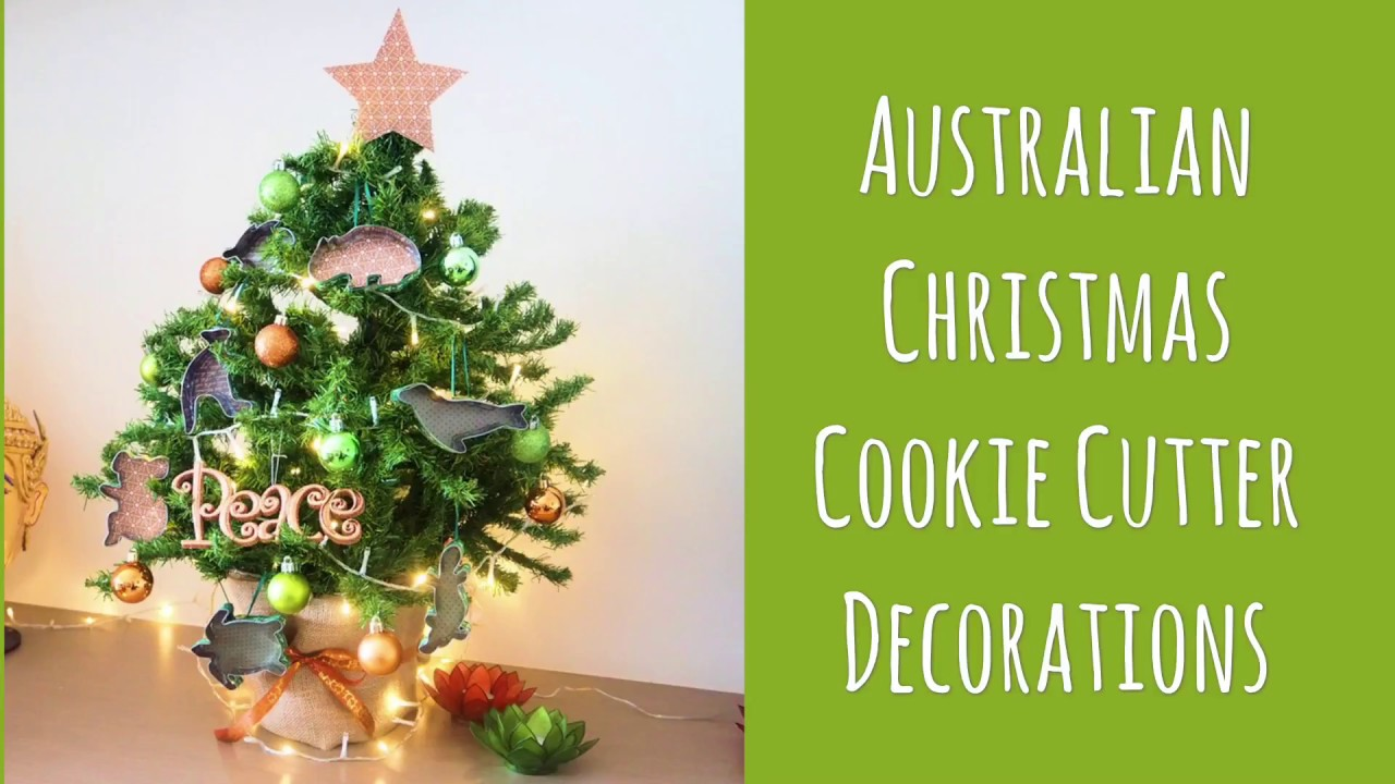Australian Christmas Decorations.Australian Cookie Cutter Christmas Tree Decorations