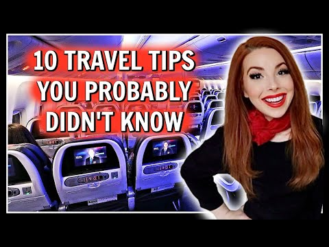 TOP 10 Travel Tips & Tricks From A Flight Attendant