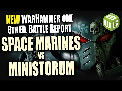 Space Marines vs Ministorum Warhammer 40K 8th Edition Battle Report Ep 19