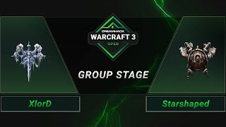 WC3 - XlorD vs. Starshaped - Groupstage - DreamHack WarCraft 3 Open: Summer 2021 - Europe