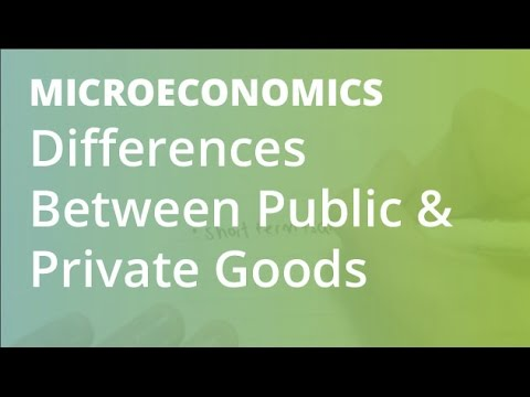 Differences Between Public & Private Goods   Microeconomics