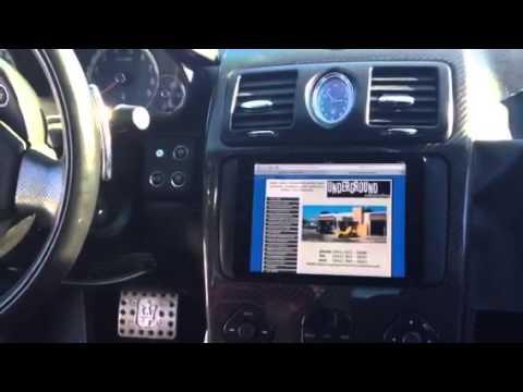 Ipad Mini Universal Dash Kit Into Maserati Car By