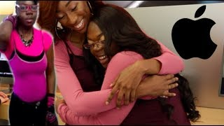 VIRAL APPLE STORE GIRL GETS SURPRISED WITH NEW MACBOOK & MAKEOVER! (SUPER EMOTIONAL)