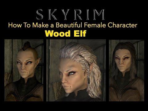 Female Wood Elf Skyrim