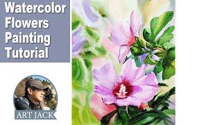 Watercolor Flowers Painting Tu…