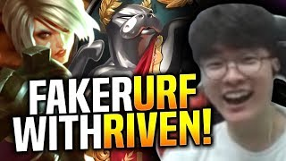 FAKER GETS RIVEN IN URF! [CAM FIXED ON FAKER] - INSANE GAME ft KHAN TEDDY & CLID! | SKT T1 Replays
