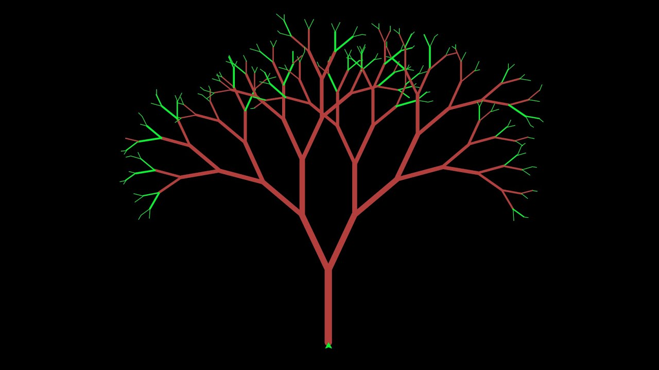Python Turtle Graphics - Fractal Tree