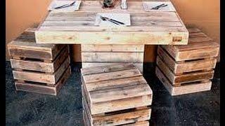 Wow,kayu Palet Bekas Packing Buah Disulap Menjadi Meja Dan Kursi Kafe!!!