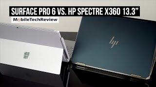 """MS Surface Pro 6 vs HP Spectre x360 13"""" Gem Cut (late 2018) Comparison Smackdown"""