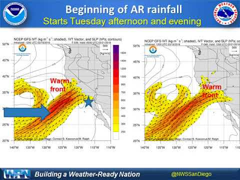 Atmospheric River potential significant rainfall - NWS San Diego briefing