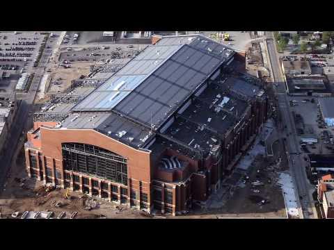 Lucas Oil Stadium Construction Youtube