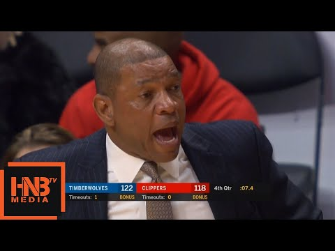 Doc Rivers & Mike Woodson Ejected From The Game / LA Clippers vs Timberwolves