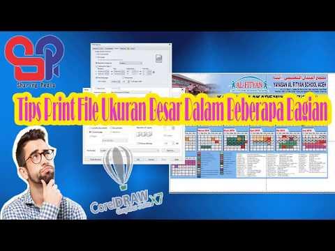 Tips Komputer : Cara Print File Ukuran Besar Ke Kertas Biasa di Corel Draw
