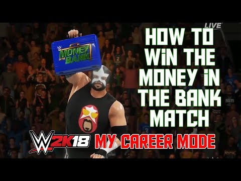 How To Win The Money in the Bank Match -  WWE 2K18 My Career Mode Ep 11 (WWE 2K18 MyCareer MITB)
