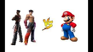 MUGEN (EC): KAZUYA M.  &  JIN K.  vs  SUPER MARIO  (REQUEST)