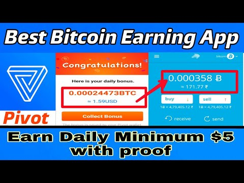Earn free Btc by pivot apps daily 100$ upto 4 btc