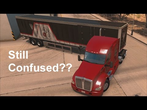 American Truck Simulator - How to back up a trailer pt. 2