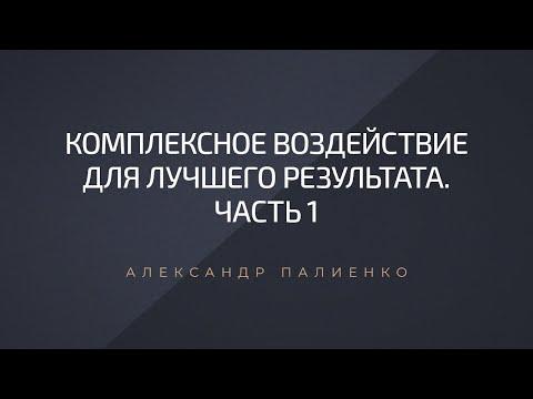 Комплексное воздействие для лучшего результата. Часть 1. Александр Палиенко.