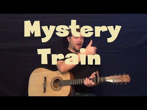 Mystery Train (Elvis) Easy Guitar Lesson How To Play Tutorial