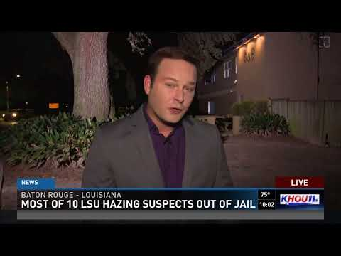 Most of 10 LSU hazing suspects out of jail