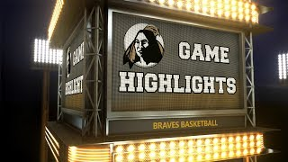 Braves Highlights: Basketball vs. Young Harris