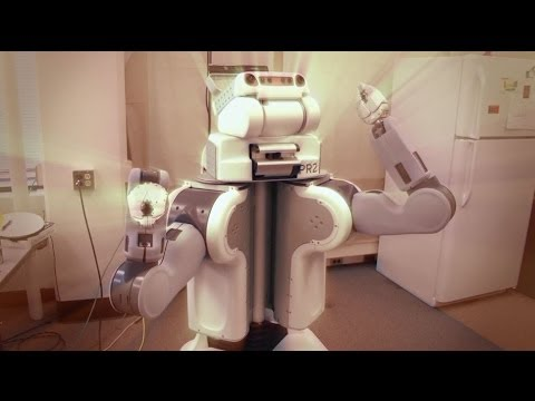 ROBOTS 'TO WORK IN SUPERMARKETS' CLICK - BBC NEWS