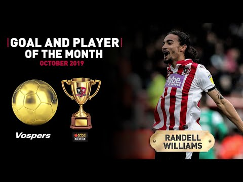 🏆 Randell Williams on winning goal and player of the month for October | Exeter City Football Club