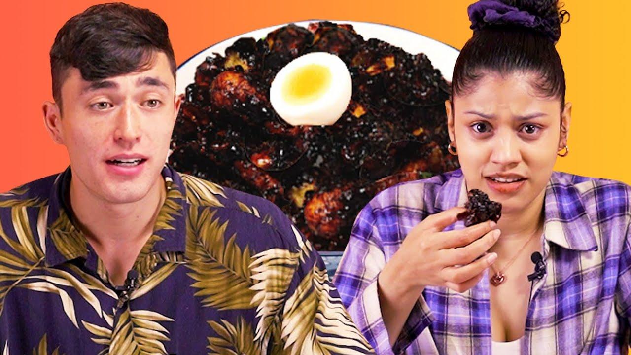 한국의 이색치킨을 먹어본 외국인 반응?! (ft. 포테킹, 짜파치킨, 발사믹치킨, 뉴린기)