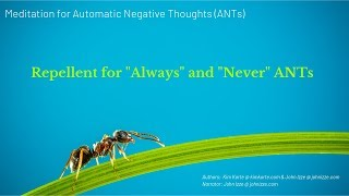 "Meditation - Repellent for ""Always"" and ""Never"" ANTs"