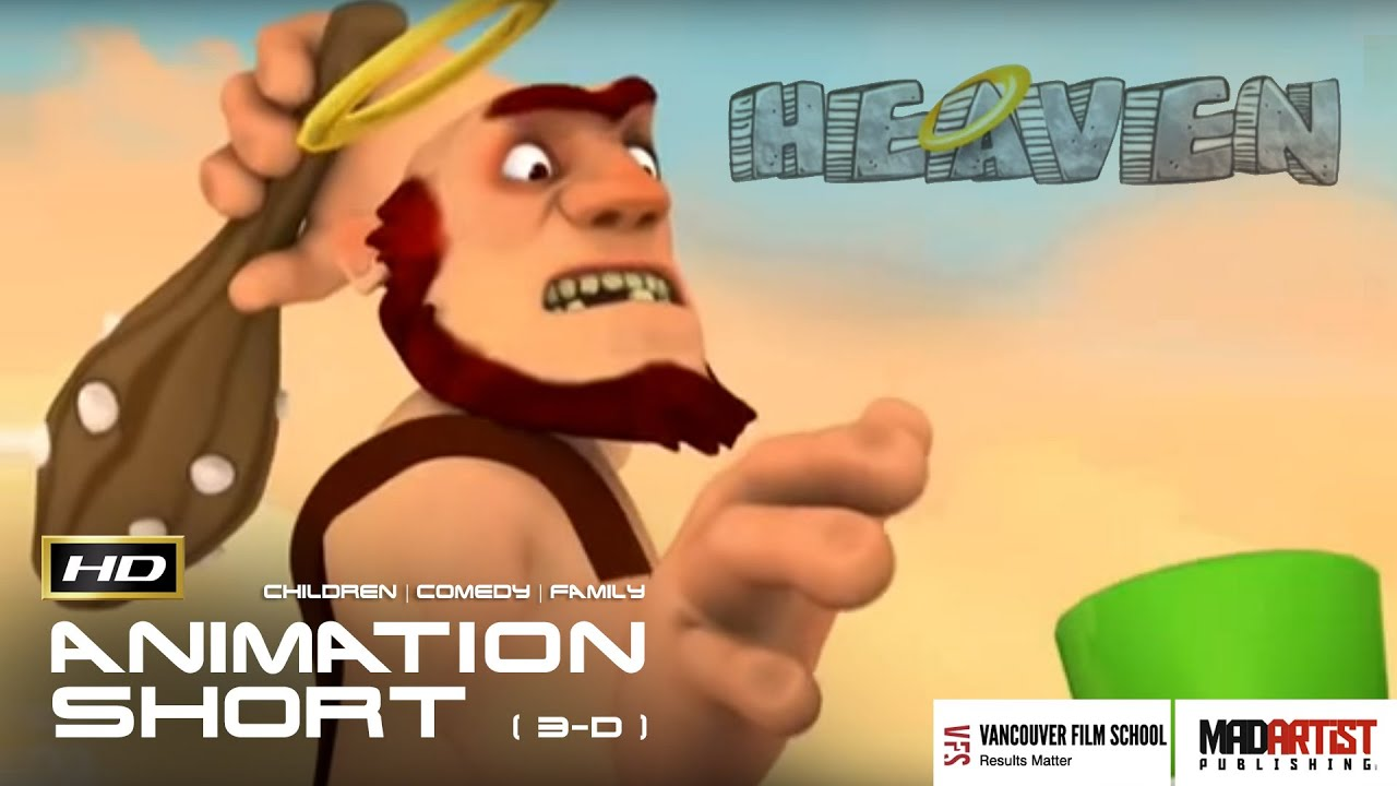 "CGI 3D Animated Short Film ""HEAVEN"" Funny Animation Cartoon by Camilo Guaman & Vancouver Film School #1"