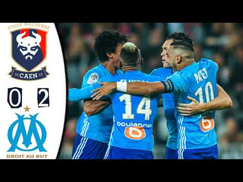 Caen vs Marseille 0-2 All Goals Ligue 1 Conforama Live score Match in Pictures