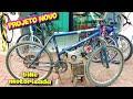 Iniciando O Projeto Da Bicicleta Motorizada | Motor Estacionário | Bike Motorizada