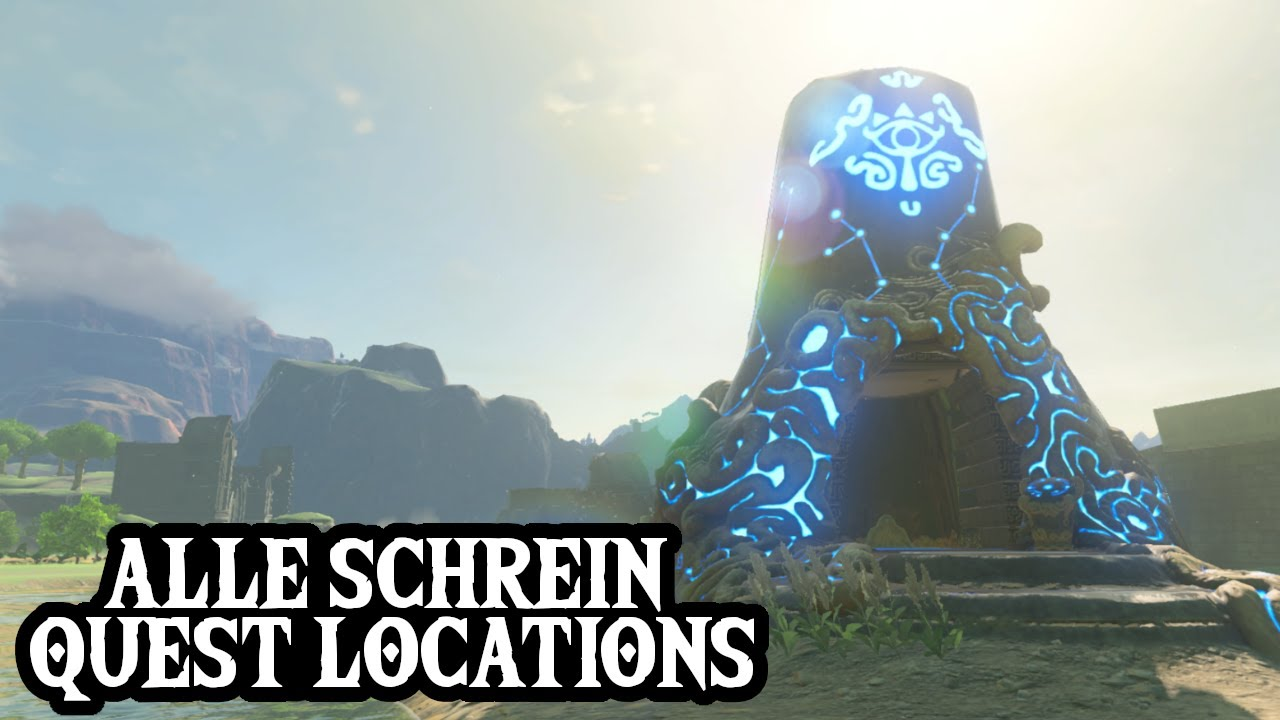 Zelda Botw Alle Schreine Karte.Alle Schrein Quest Locations Zelda Breath Of The Wild Guide