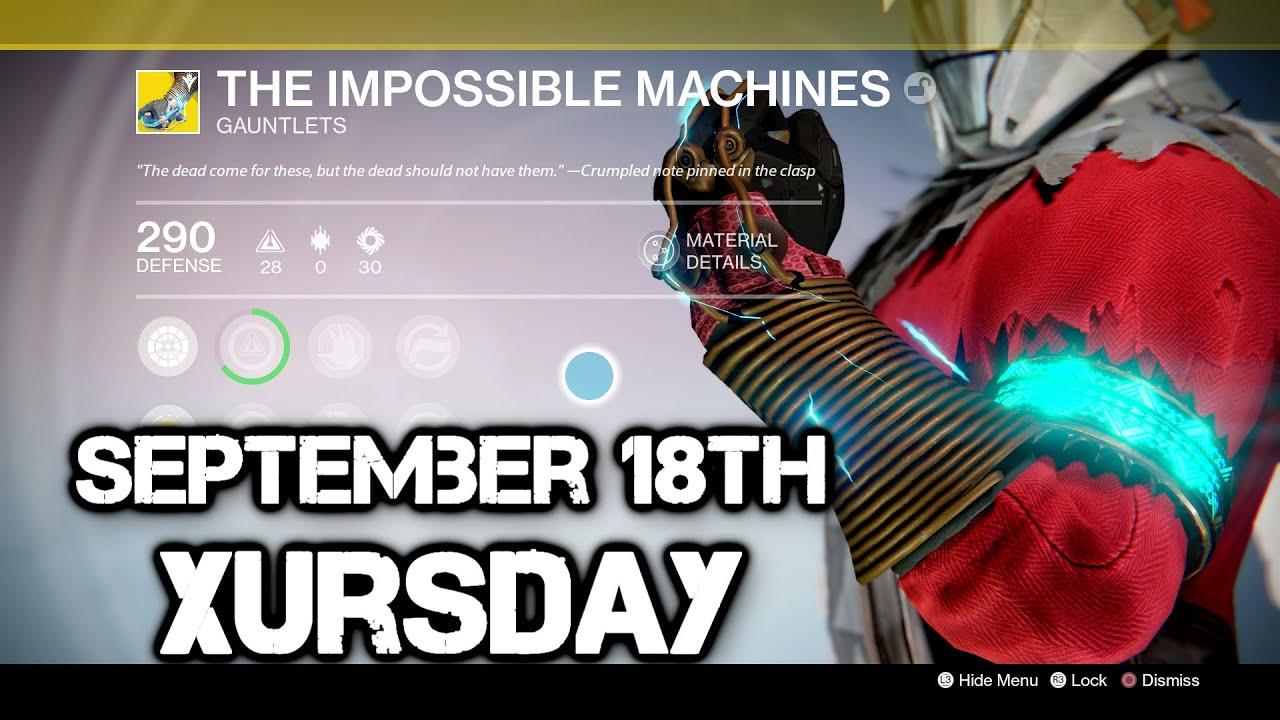 impossible machine destiny