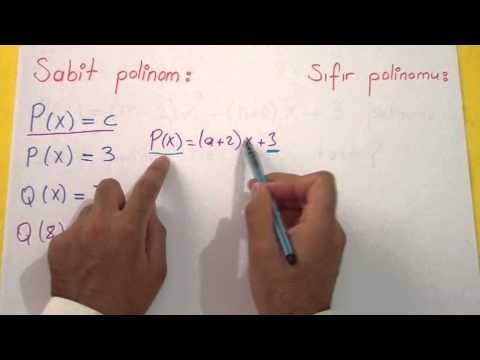 Polinomlar 1 Şenol Hoca Matematik