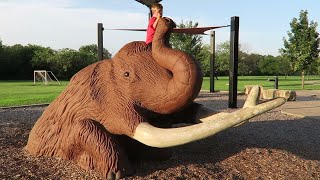 The FLOOR IS LAVA CHALLENGE! at an Animal PLAYGROUND with KIDCITY Family Fun!