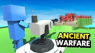NEW FUTURE TURRET vs TONS OF ENEMIES IN ANCIENT WARFARE (Ancient Warfare 3 Funny Gameplay)