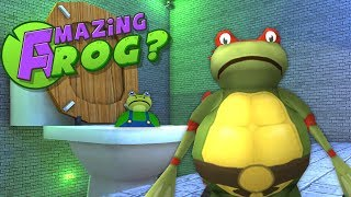 Teenage Mutant Ninja Turtle Frogs Rescue Mario Brothers From Giant Toilet! - Amazing Frog Gameplay