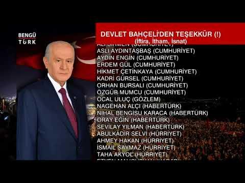 MHP LİDERİ DEVLET BAHÇELİ'DEN TEŞEKKÜR MESAJI (!)