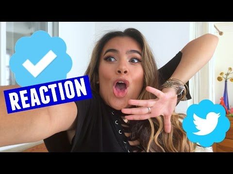 GIRL REACTS TO GETTING VERIFIED ON TWITTER!!
